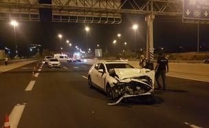 תאונה בכביש 431 (צילום: דוברות המשטרה)