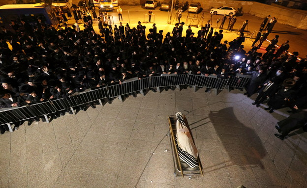 לוויתו של מנחם קנובלוביץ' בירושלים, אסון מירון (צילום: רויטרס)