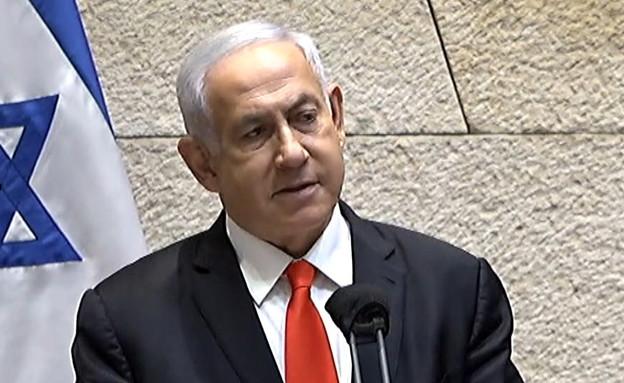 ראש הממשלה נתניהו בדיון בעקבות האסון במירון (צילום: ערוץ הכנסת)