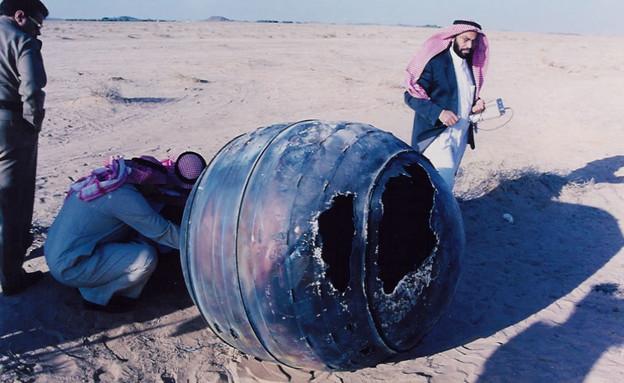 חלק ממשגר דלתא 2 שנפל בערב הסעודית ב-2001 (צילום: NASA)