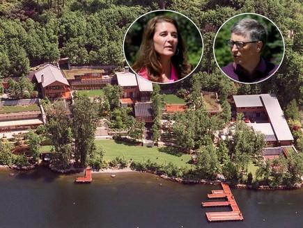 ביל ומירנדה גייטס (צילום: בית: GettyImages - Dan Callister, הזוג גייטס: רויטרס)