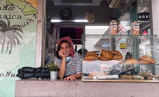 בית הקפה של שירה חדד (צילום: גלית אברהם)
