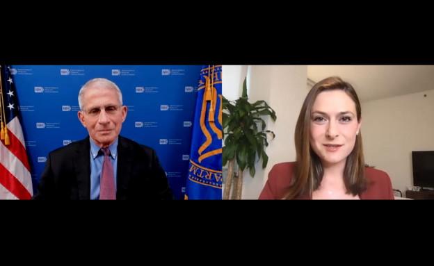 ראש צוות הקורונה האמריקני בריאיון ליונה לייבזון (צילום: חדשות 12)