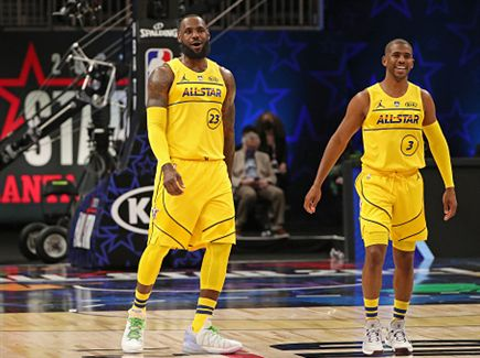 פול ולברון. המנהיגים הגדולים ב-NBA, גם בגיל 36 (Getty) (צילום: ספורט 5)