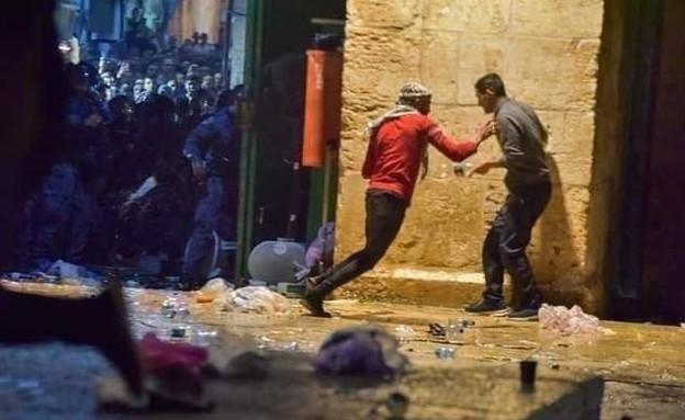 מתפרעים במהומות בהר הבית בירושלים