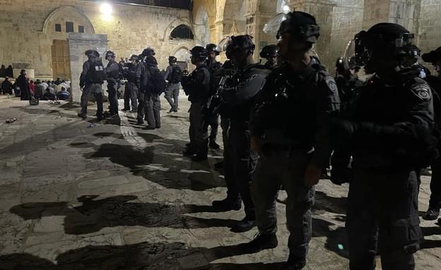 כוחות הביטחון בהיערכות לקראת המהומות בהר הבית (צילום: דוברות המשטרה)