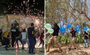 מהומות בירושלים ובלונים בעזה (עיבוד: החדשות)