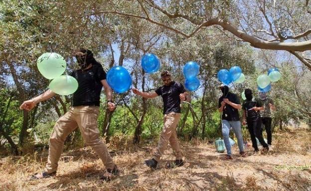 בלוני תבערה הופרחו לעבר ישראל