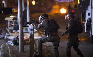 חיילי משמר הגבול במהומות בירושלים (צילום: אוליבר פיטוסי, פלאש 90)