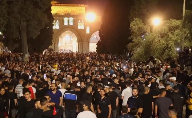 תיעוד מהמתיחות בירושלים (צילום: N12)