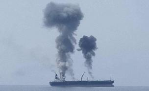 פיצוץ במכלית ליד סוריה
