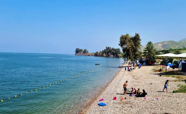 חוף לבנון (צילום: דנה בכר, איגוד ערים כנרת)