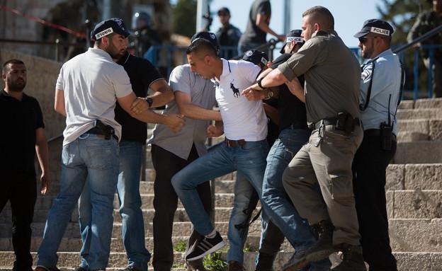 המהומות בהר הבית (צילום: יונתן סינדל, פלאש 90)