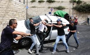 האלימות בהר הבית (צילום: שלו שלום, TPS)