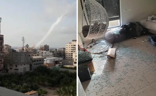 פגיעה ישירה של רקטה בבית באזור ירושלים