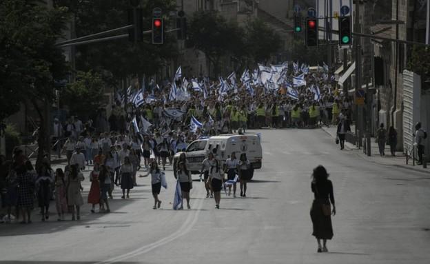 מצעד הדגלים (צילום: דוברות המשטרה)