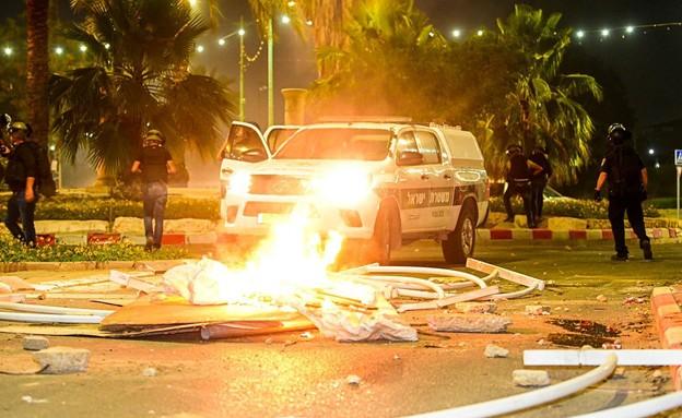 מהומות בנגב 2021 (צילום: וואליד אלעוברה)
