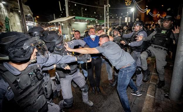 שער שכם, ירושלים, מהומות בירושלים (צילום: יונתן זינדל, פלאש 90)