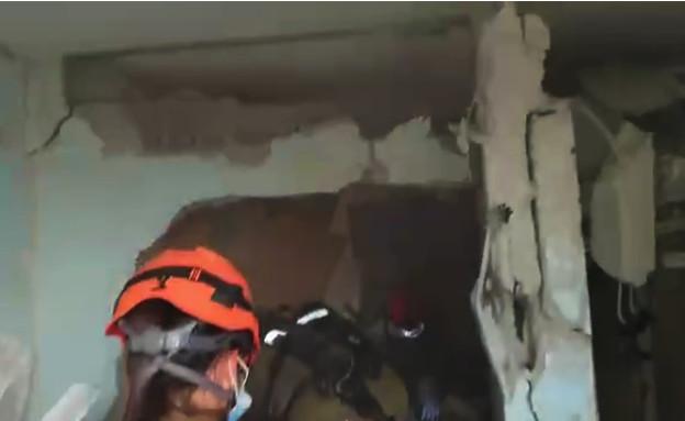 פגיעה ישירה בבניין באשקלון