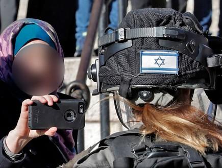 תיעוד עימות עם כוחות הביטחון (צילום: THOMAS COEX/AFP, GettyImages)