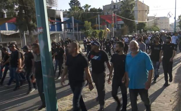 המהומות בלוד (צילום: N12)