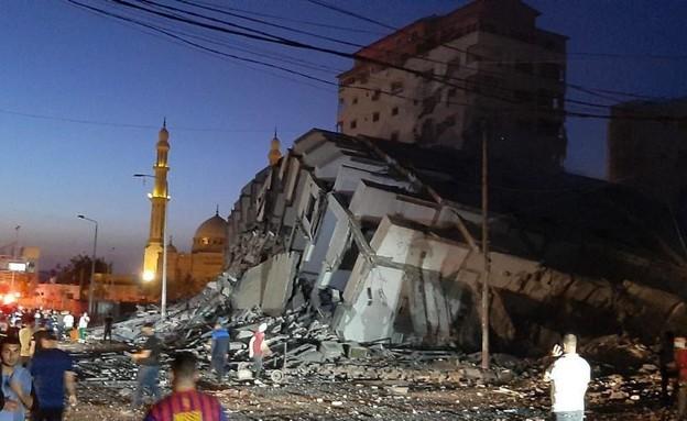 """צה""""ל תקף בניין רב קומות בעזה"""