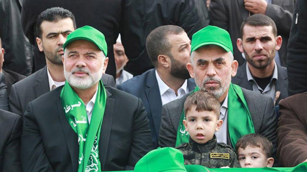 ראשי חמאס בעצרת בעזה, ארכיון (צילום: חדשות)