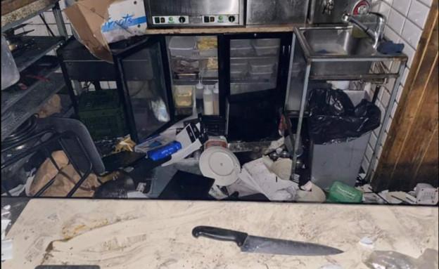 מרקטו עכו אחרי התקיפה  (צילום: עמית שחר)