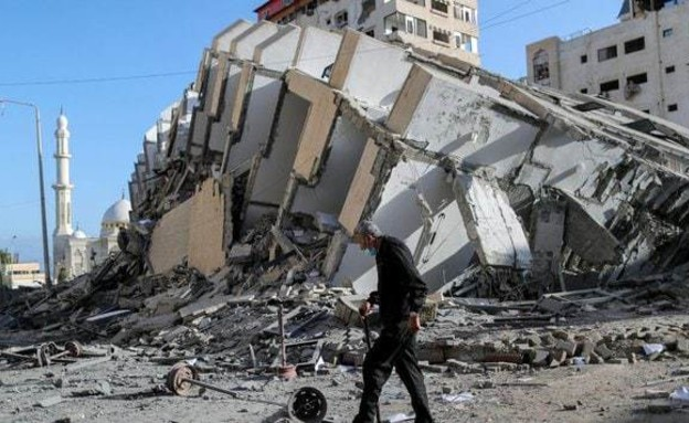 רצועת עזה אחרי המתקפות (צילום: reuters)