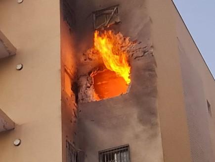 פגיעה בבניין בשדרות