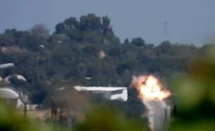"""תיעוד טיל הנ""""ט שנורה לעבר ג'יפ צה""""לי"""