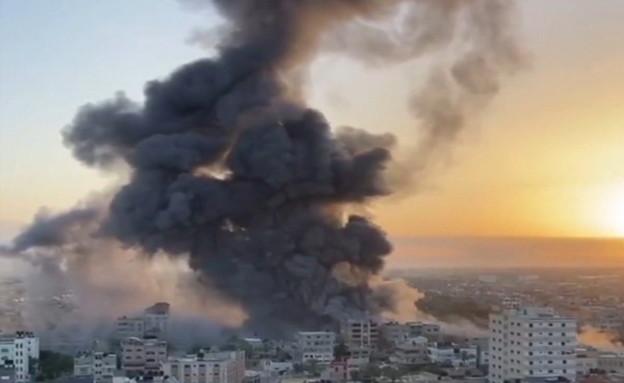 גל התקיפות האחרון בעיר עזה ובחאן יונס