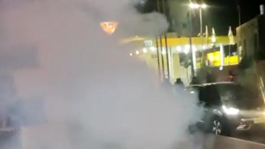 מהומות בטבריה (צילום: מתוך הרשתות החברתיות לפי סעיף 27א' לחוק זכויות יוצרים)