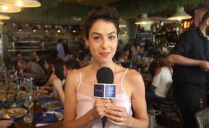 ריטה גולדשטיין במסעדת התרנגול הכחול (צילום: mako)