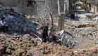 """הרס תקיפת צה""""ל ברצועת עזה - מבצע שומר החומות (צילום: MAHMUD HAMS, AFP)"""