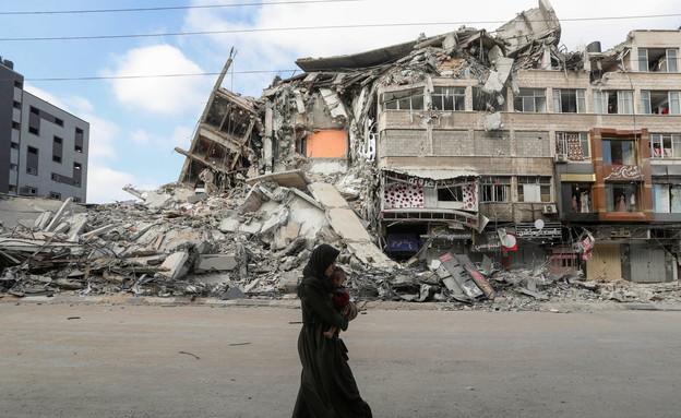 """הרס תקיפת צה""""ל ברצועת עזה (צילום: רויטרס)"""