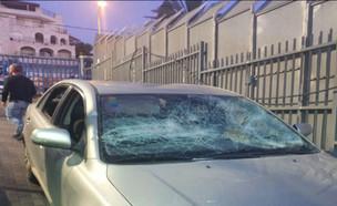 """נכנסו בטעות לכפר ערבי - והותקפו (צילום: מתוך """"חדשות הבוקר"""" , קשת 12)"""