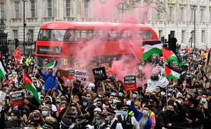 פרו - פלסטינים בלונדון  (צילום: רויטרס)