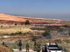 פריצת גדר הגבול בלבנון (צילום: חדשות 12)