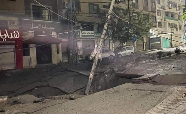 """מנהרות טרור שנחשפו מתחת לכבישים בתקיפות צה""""ל ברצוע"""