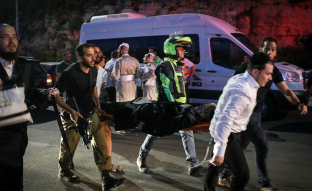 זירת האירוע  בגבעת זאב (צילום: נועם ריבקין פנטון, פלאש 90)