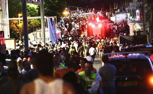 זירת האירוע בגבעת זאב (צילום: שלו שלום, TPS)