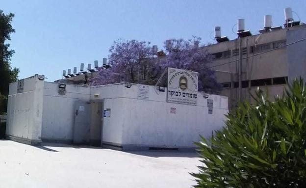 מקלט באשדוד שמשמש כבית כנסת (צילום: כרמן אלמקייס עמוס, באדיבות הצלמת)