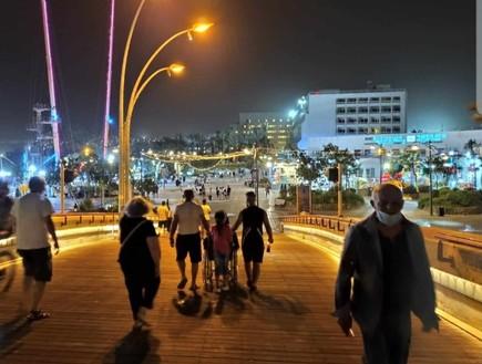 אילת ריקה מתיירים (צילום: דוברות משטרת ישראל)