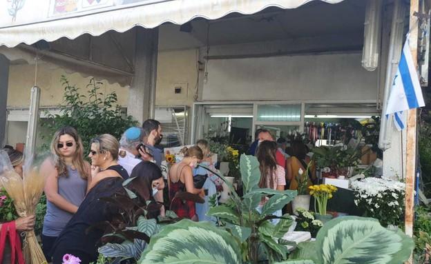 חנות הפרחים שנפגעה ברמת גן (צילום: N12)