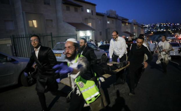 זירת האירוע בירושלים  (צילום: פלאש 90)