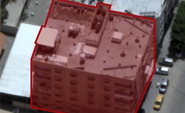 """תקיפת החמ""""ל הראשי של ביטחון הפנים של חמאס (צילום: דובר צה""""ל)"""