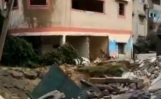 """שכונת רימאל בעזה לאחר הפצצות צה""""ל (צילום: מתוך הרשתות החברתיות בהתאם לסעיף 27א' בחוק)"""