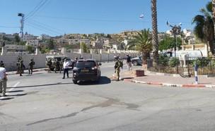 """ניסיון פיגוע בכיכר גרוס שבמרחב החטיבה המרחבית """"יהודה"""" (צילום: ציפי שטיסל, TPS)"""