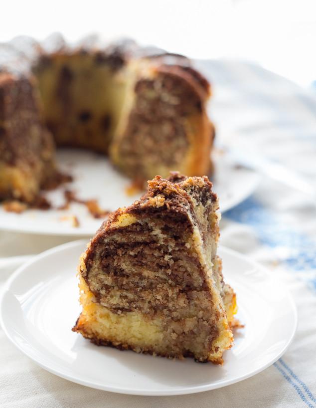עוגת סולת שיש שוקו-תפוז - פרוסה